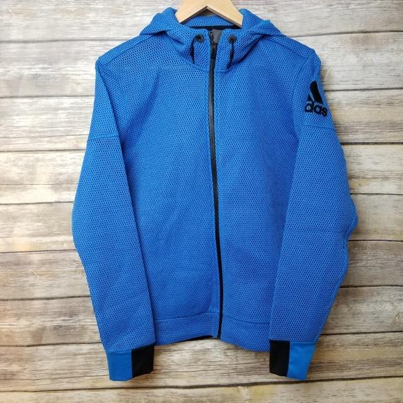 Adidas Hoodie Training Daybreaker Mesh Blue